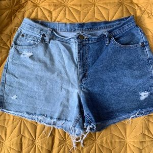 Two-tone Wrangler cut offs